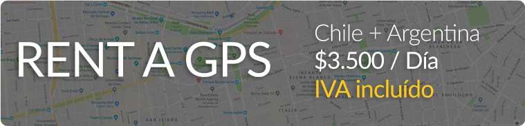 Rent a GPS para Chile y Argentina